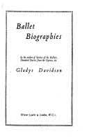 Ballet biographies