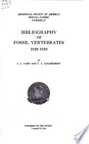 Bibliography Of Fossil Vertebrates 1928 1933