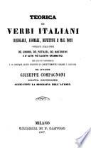 Teorica dei verbi italiani regolari, anomali, difettivi e mal noti. 6. ed