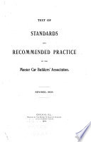 Text of Standards and Recommended Practice of the Master Car Builders  Association