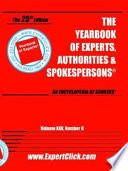 Yearbook Of Experts Authorities Spokespersons Vol Xxv