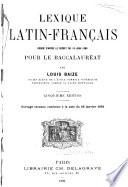 Lexique latin francais