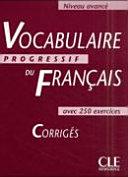 Vocabulaire progressif du français