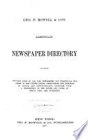 Rowell's American Newspaper Directory