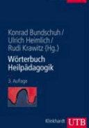 Wörterbuch Heilpädagogik