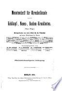 Monatsschrift f  r Ohrenheilkunde und Laryngo Rhinologie