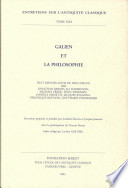 illustration du livre Galien Et la Philosophie