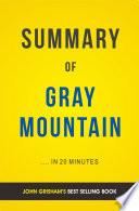 download ebook gray mountain: by john grisham | summary & analysis pdf epub