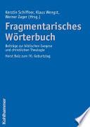 Fragmentarisches Wörterbuch