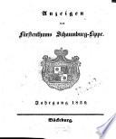 Anzeigen des Fürstenthums Schaumburg-Lippe