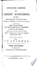 Catalogue raisonn   du cabinet d estampes par feu m  Winckler  L   cole fran  oise