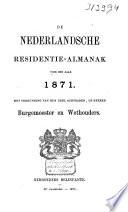 Nederlandsche residentie-almanak