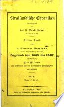 Stralsundische Chroniken