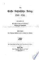 Der erste schlesische krieg, 1740-1742