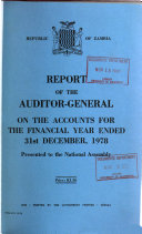 Report of the Auditor General on the Accounts of the Republic for the Financial Year Ended 31st December
