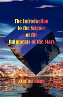 Book The Introduction to the Science of the Judgments of the Stars