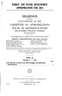 Energy and Water Development Appropriations for 2013