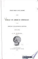 BUREAU OF AMERICAN ETHNOLOGY