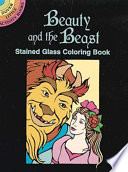 Beauty and the Beast Stained Glass Coloring Book