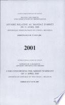 Affaire relative au mandat d'arrêt du 11 avril 2000 (République Démocratique du Congo c. Belgique)