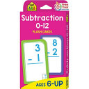 Subtraction 0 12 Flash Cards
