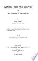 Evenings with the Skeptics