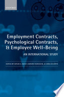 Employment Contracts  Psychological Contracts  and Employee Well Being