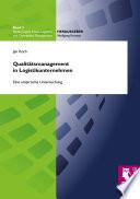 Qualitätsmanagement in Logistikunternehmen