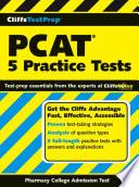 CliffsTestPrep PCAT  5 Practice Tests