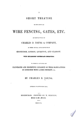 A Short Treatise On The System Of Wire Fencing, Gates, Etc img-1