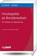 Virushepatitis als Berufskrankheit