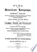 Plea for an American Language