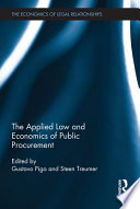 The Applied Law and Economics of Public Procurement