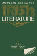 download ebook macmillan dictionary of irish literature pdf epub