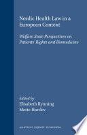 Nordic Health Law in a European Context