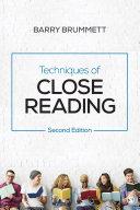 download ebook techniques of close reading pdf epub