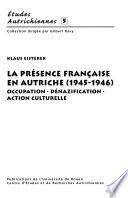 La présence française en Autriche (1945-1946) I