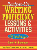 Ready to Use Writing Proficiency Lessons   Activities