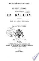 Observations météorologiques en ballon