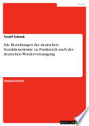 Die Beziehungen der deutschen Sozialdemokratie zu Frankreich nach der deutschen Wiedervereinigung