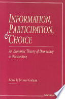 Information, Participation, and Choice Anthony Downs S Seminal Work