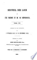 A Collection of the Laws of Mauritius and Its Dependencies