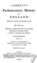 The Parliamentary History of England from the Earliest Period to the Year 1803