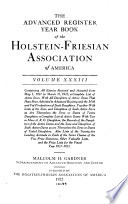 The Advanced Register Year Book of the Holstein Friesian Association of America