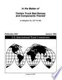 Certain Truck Bed Ramps and Components Thereof, Inv. 337-TA-485