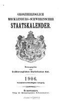 Grossherzoglich Mecklenburg-Schwerinscher Staatskalender