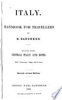 Italy, Handbook for Travellers
