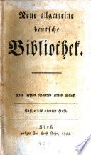 Neue allgemeine deutsche Bibliothek