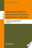 Information Systems  Development  Research  Applications  Education