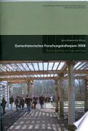 Gartenhistorisches Forschungskolloquium